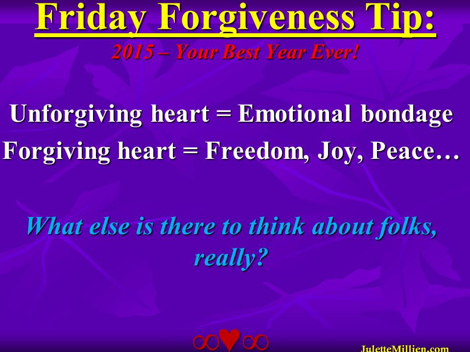 Forgiveness Tip Time – Such an OBVIOUS Choice