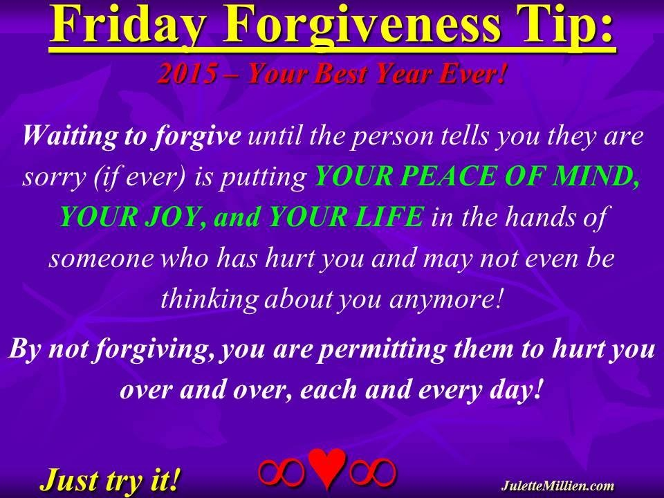 Forgiveness Tip Time – Waiting to Forgive