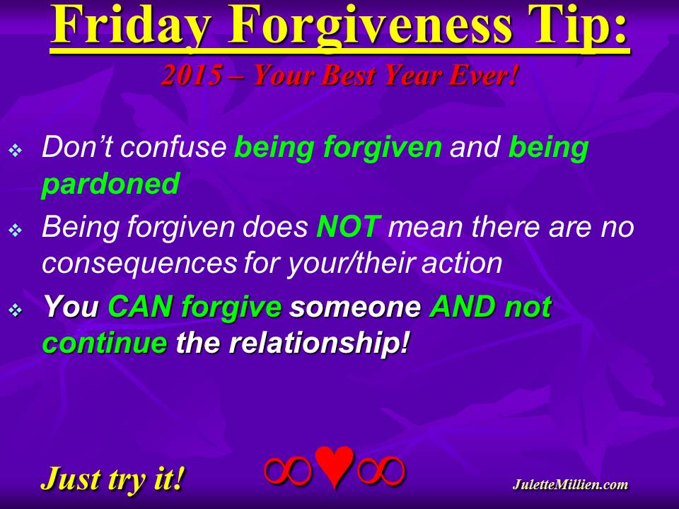Forgiveness Tip Time – Big Difference Between Pardoning and Forgiving!